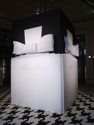 Totem Miss Dior at the entrance of exhibition
