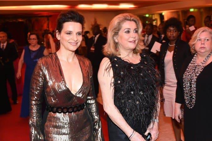 Catherine Deneuve & Juliette Binoche during the event