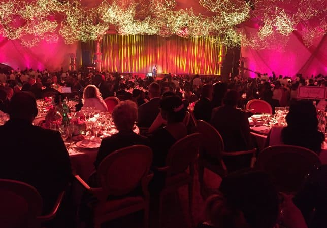 Ballroom with guest during the event